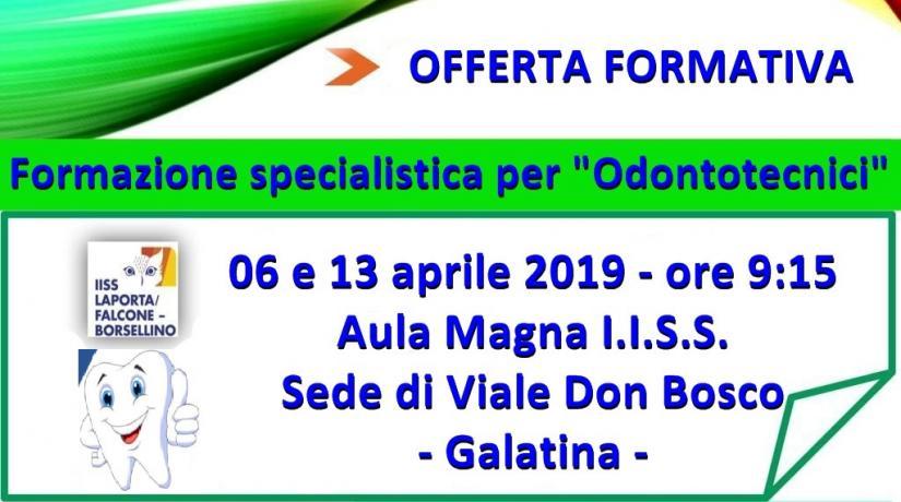 """Formazione specialistica per """"Odontotecnici"""""""