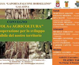 """Convegno """"Scuola e agricoltura"""" - Galatina 23.11.2019"""